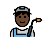 Man Factory Worker: Dark Skin Tone on OpenMoji 12.2