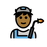 Man Factory Worker: Medium-Dark Skin Tone on OpenMoji 12.2