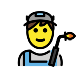 Man Factory Worker on OpenMoji 12.2
