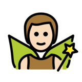 Man Fairy: Light Skin Tone on OpenMoji 12.2