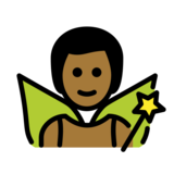 Man Fairy: Medium-Dark Skin Tone on OpenMoji 12.2