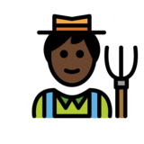 Man Farmer: Dark Skin Tone on OpenMoji 12.2