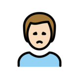 Man Frowning: Light Skin Tone on OpenMoji 12.2