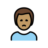 Man Frowning: Medium Skin Tone on OpenMoji 12.2