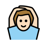 Man Gesturing OK: Light Skin Tone on OpenMoji 12.2