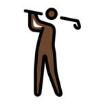 Man Golfing: Dark Skin Tone on OpenMoji 12.2