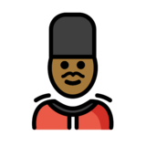 Man Guard: Medium-Dark Skin Tone on OpenMoji 12.2