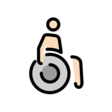 Man in Manual Wheelchair: Light Skin Tone on OpenMoji 12.2