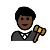 Man Judge: Dark Skin Tone on OpenMoji 12.2