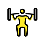 Man Lifting Weights on OpenMoji 12.2
