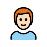 Man: Light Skin Tone, Red Hair on OpenMoji 12.2