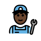 Man Mechanic: Dark Skin Tone on OpenMoji 12.2