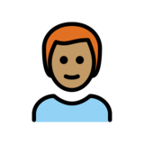 Man: Medium Skin Tone, Red Hair on OpenMoji 12.2
