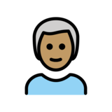 Man: Medium Skin Tone, White Hair on OpenMoji 12.2
