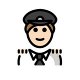 Man Pilot: Light Skin Tone on OpenMoji 12.2