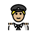 Man Pilot: Medium-Light Skin Tone on OpenMoji 12.2