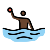 Man Playing Water Polo: Dark Skin Tone on OpenMoji 12.2