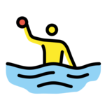 Man Playing Water Polo on OpenMoji 12.2