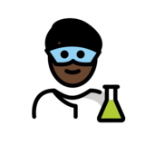 Man Scientist: Dark Skin Tone on OpenMoji 12.2