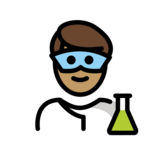 Man Scientist: Medium Skin Tone on OpenMoji 12.2