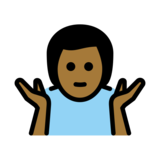 Man Shrugging: Medium-Dark Skin Tone on OpenMoji 12.2