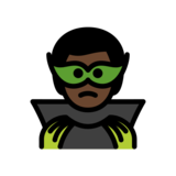 Man Supervillain: Dark Skin Tone on OpenMoji 12.2