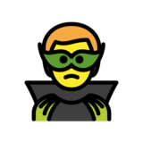 Man Supervillain on OpenMoji 12.2