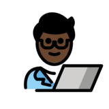 Man Technologist: Dark Skin Tone on OpenMoji 12.2