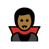 Man Vampire: Medium-Dark Skin Tone on OpenMoji 12.2