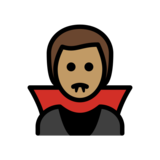 Man Vampire: Medium Skin Tone on OpenMoji 12.2