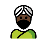 Man Wearing Turban: Dark Skin Tone on OpenMoji 12.2