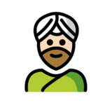 Man Wearing Turban: Light Skin Tone on OpenMoji 12.2