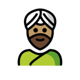 Man Wearing Turban: Medium Skin Tone on OpenMoji 12.2