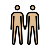 Men Holding Hands: Medium-Light Skin Tone on OpenMoji 12.2