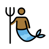 Merman: Medium-Dark Skin Tone on OpenMoji 12.2