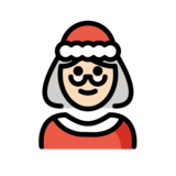 Mrs. Claus: Light Skin Tone on OpenMoji 12.2