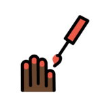 Nail Polish: Dark Skin Tone on OpenMoji 12.2