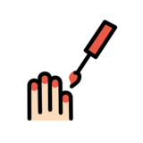 Nail Polish: Light Skin Tone on OpenMoji 12.2