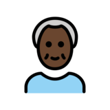 Old Man: Dark Skin Tone on OpenMoji 12.2