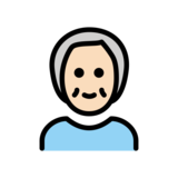 Older Person: Light Skin Tone on OpenMoji 12.2