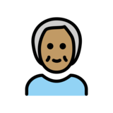 Older Person: Medium Skin Tone on OpenMoji 12.2