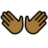 Open Hands: Medium-Dark Skin Tone on OpenMoji 12.2
