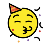 Partying Face on OpenMoji 12.2