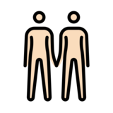 People Holding Hands: Light Skin Tone on OpenMoji 12.2