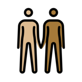 People Holding Hands: Medium-Light Skin Tone, Medium-Dark Skin Tone on OpenMoji 12.2