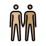 People Holding Hands: Medium-Light Skin Tone, Medium Skin Tone on OpenMoji 12.2