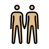 People Holding Hands: Medium-Light Skin Tone on OpenMoji 12.2