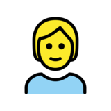 Person: Blond Hair on OpenMoji 12.2