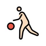 Person Bouncing Ball: Light Skin Tone on OpenMoji 12.2
