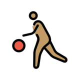 Person Bouncing Ball: Medium Skin Tone on OpenMoji 12.2
